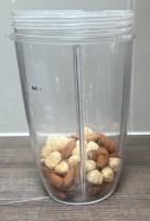Almonds and hazelnuts - peanut butter bites