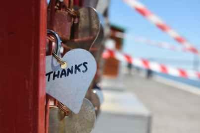 silver colored heart lock bridge
