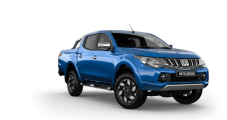The futuristic exterior styling of the Mitsubishi Triton will remain relatively untouched for the 2017 release. However, the truck has been slightly widened to provide a lower center of gravity and therefore more stability while driving. The truck's wide front bumper helps protect it during off-road excursions, and the large air vents provide cooler air through to the engine. Despite the sleek lines of the truck's body, the Triton's 178 horsepower engine can accelerate to 60 miles per hour in about nine seconds and reach top speeds of 115 miles per hour. Leather upholstery, an interactive touchscreen and wireless Bluetooth technology offer greater comfort for the Triton's interior.