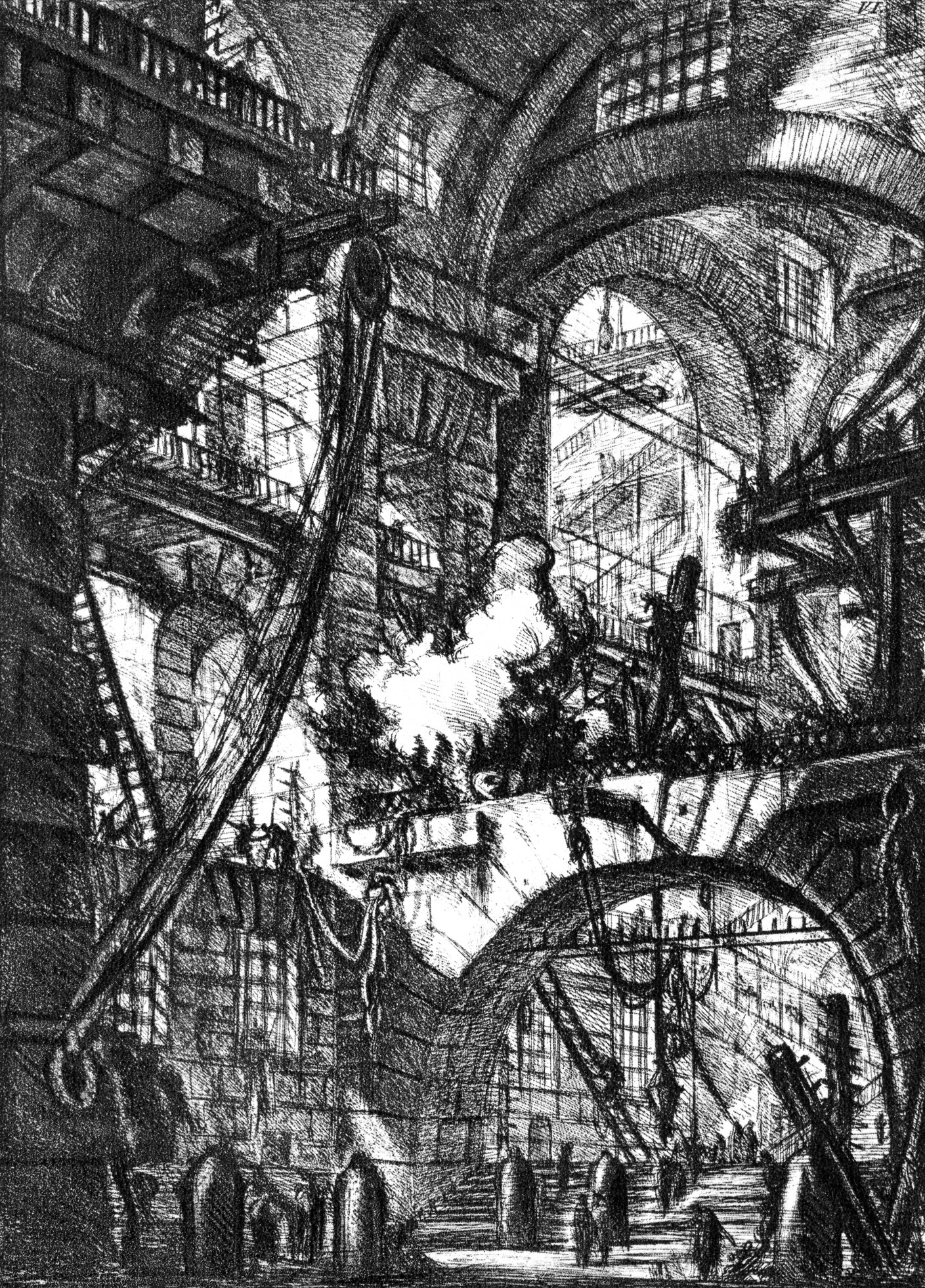 Piranesi's Carceri Plate VI: The Smoking Fire