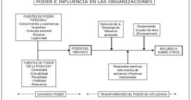 Poder e influencia en las organizaciones