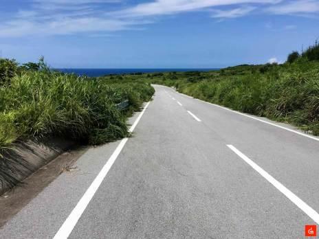 一本道の道路