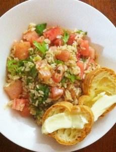 watermelon rice salad