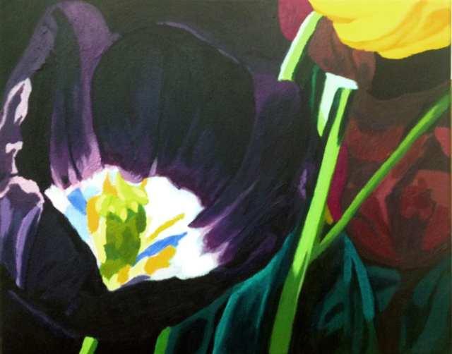 deGranero curso pintura acrílico flores madrid