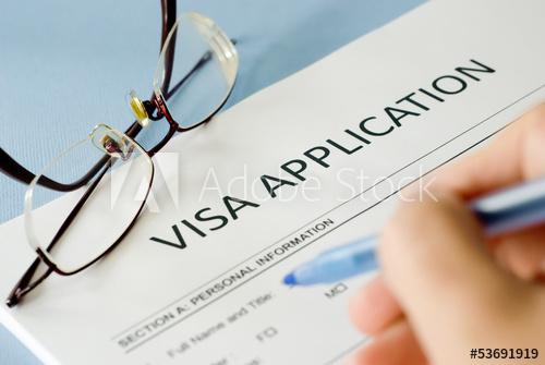 Image of visa application