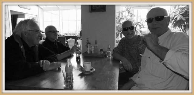 Hans, Egbert, Johan en Henk.