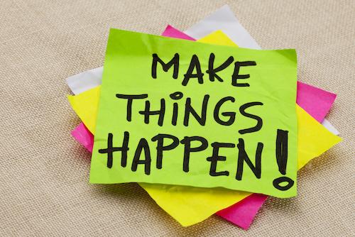 Make things happen post-its strategie