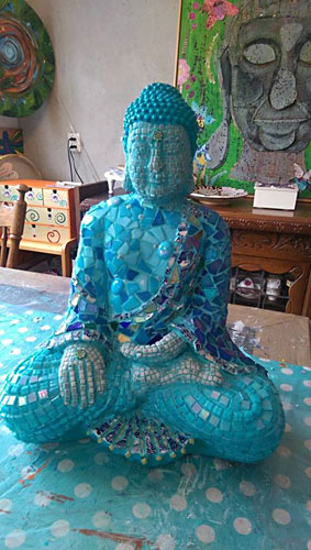 Mozaïk Budha - Monique van Putten exposeert in De Groene Luiken - april/mei 2017