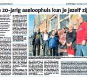 Foto van bericht in Groot Vlaardingen over 20-jarig jubileum De Groene Luiken Vlaardingen - maart 2014