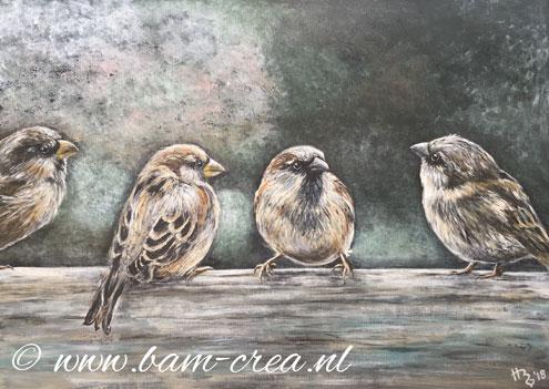 Heleen Boerkamp exposeert, samen met Tinka Schilperoort, van 7 januari - 18 februari 2019 in De Groene Luiken