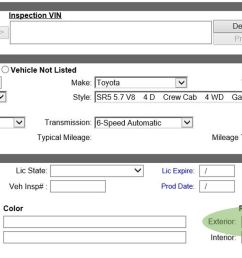 for the system to recognize and calculate three stage paint finish the user must select three stage paint option from the vehicle options  [ 1488 x 785 Pixel ]