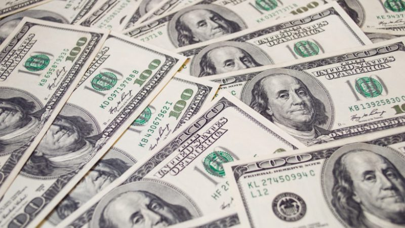 Dollars,Banknotes,Background.,Global,Financial,Crisis,Concept