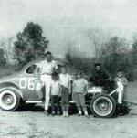 As this photograph indicates, dirt track stock car racing was often a family affair in Taney County. (WRVHS photo)
