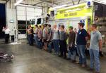 Western Taney County Fire Chief Chris Berndt swears in new firefighters during a ceremony Tuesday evening, October 7, 2014 at Station 1. (WTCFPD photos)