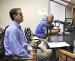 District 155 State Rep. candidate Jason Frodge and incumbent Lyle Rowland in the KRZK studios for Know Your Candidate.