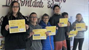 6th grade: Tila Stiles, Kyra Pros, Carter Letterman, Matthew Greenwalt, Connor Provenzano-Reed, and Lexi Essick