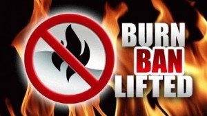 Burn-Ban-Lifted