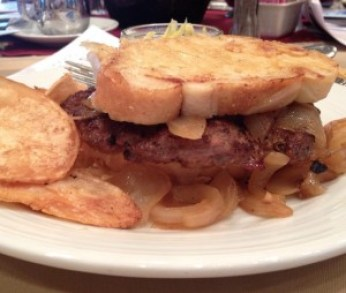 French Onion Grilled Cheeseburger