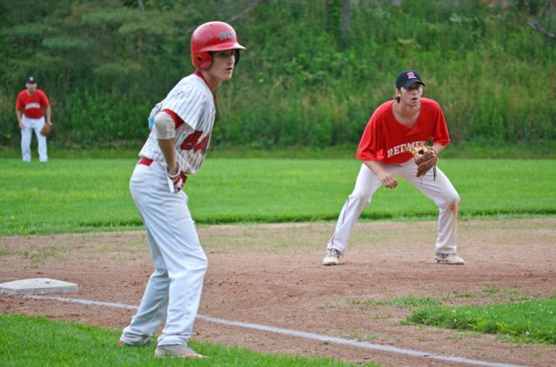 BANC and Redmen battled Monday afternoon for the Greenwich Senior Babe Ruth League championships. With the win, BANC forced a deciding game against Redmen to be played Wednesday. (Paul Silverfarb photo)