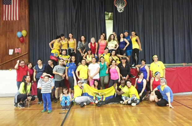 Participants of the Zumba for Ecuador event helped raise funds for the earthquake victims.