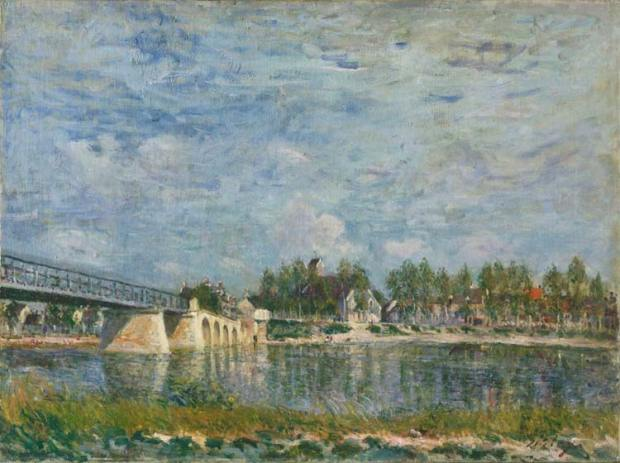 The Bridge at Saint-Mammes - Alfred Sisley