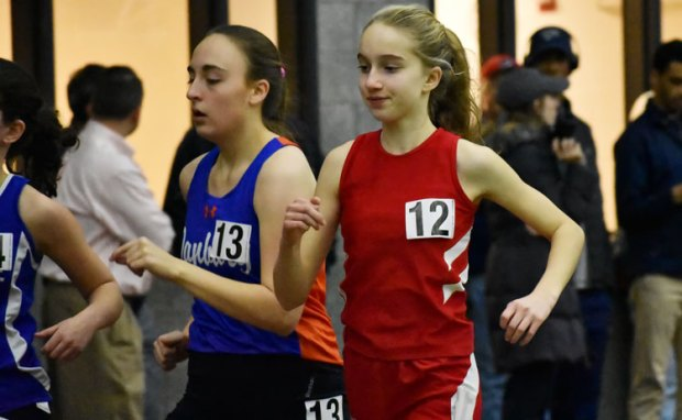 The Lady Cardinals took to the CIAC class LL indoor track championships Wednesday and finished third overall as a team, posting a score of 58 points. (Paul Silverfarb photo)