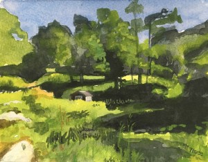 Deborah Pierce Bonnell's painting of J. Alden Weir's Palace Car, the cottage he used as a movable studio on Weir Farm. (contributed photo)