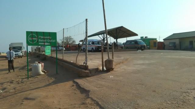 チルンドゥのバス停