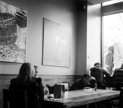 Inside a coffee shop
