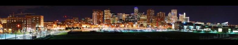 Afterdark Denver Colorado Panorama