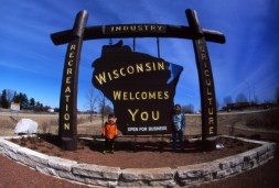 Wisconsin Welcomes You! I always have to take a photo when crossing the state line! I'm not sure why some photos are darker on the right hand side, must be the shutter curtain sticking. There are a couple with this issue.