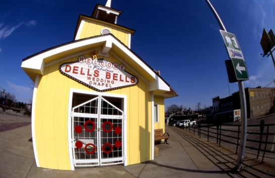 Dells Bells. I thought the fish-eye lens gave a pleasant effect to the wedding chapel.