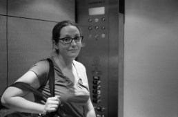 Another trip to the hospital in the elevator.