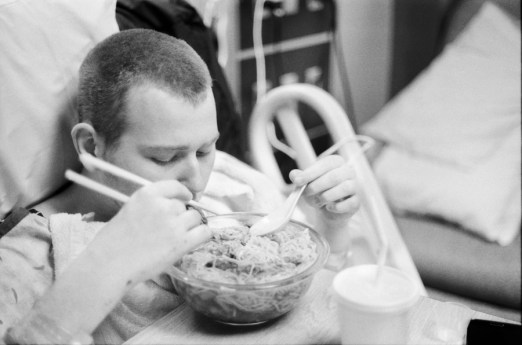 """He wanted """"Pho"""", I did this with home made soup with my best ability, without driving 30 miles to get the correct ingredients."""