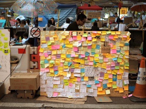 People's thoughts and dreams on sticky notes.