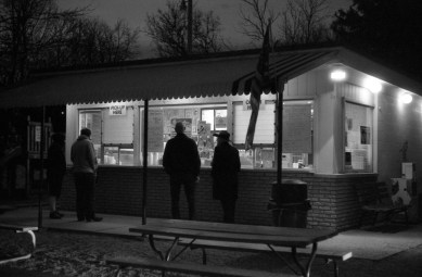 Miss Lisa's Ice cream. The older gentlemen on the right was so happy that he gets to bring his grown up son to get ice cream still, he said he could get whatever he wants.