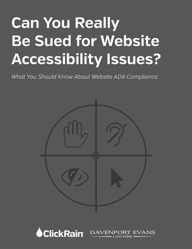 Accessibility White Paper book cover