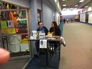 Chris Prendergast and Davenport Evans attorney Ashley Blake at Arcade Bash for Autism 2017