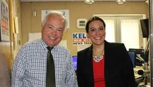 KELO Radio's Bill Zortman and Davenport Evans lawyer Ashley Blake
