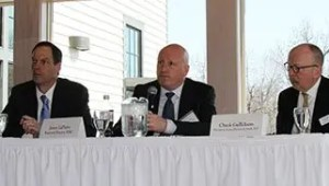 Bret Afdahl, James LaPierre, Charles Gullickson at Davenport Evans Banking Seminar 2018