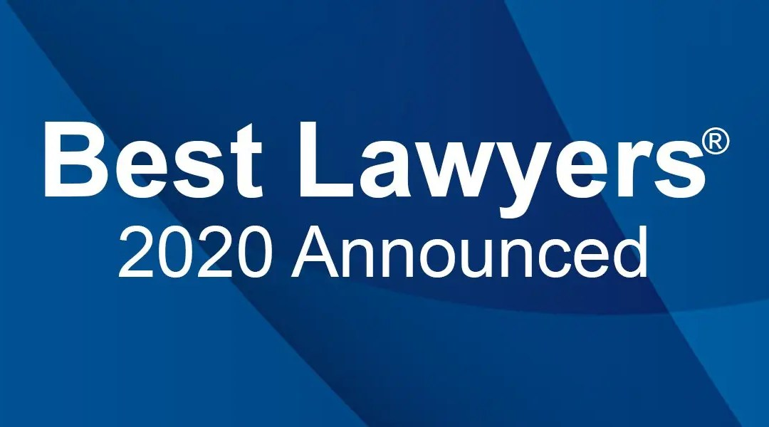 Best Lawyers 2020 Announced