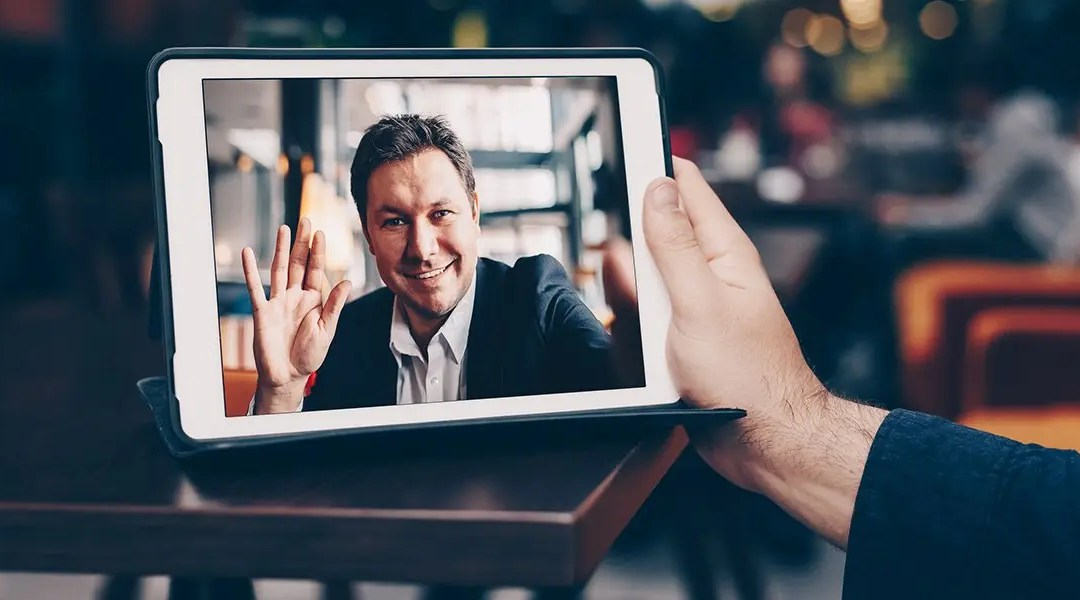Man Meets Remotely via Video Chat