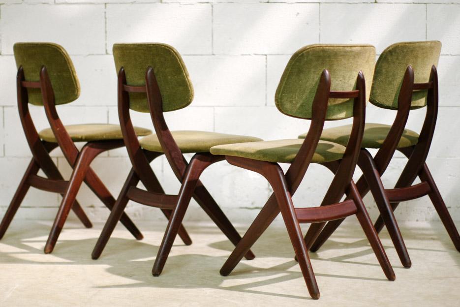 Retro Vintage Louis van Teeffelen stoelen Webe jaren 60