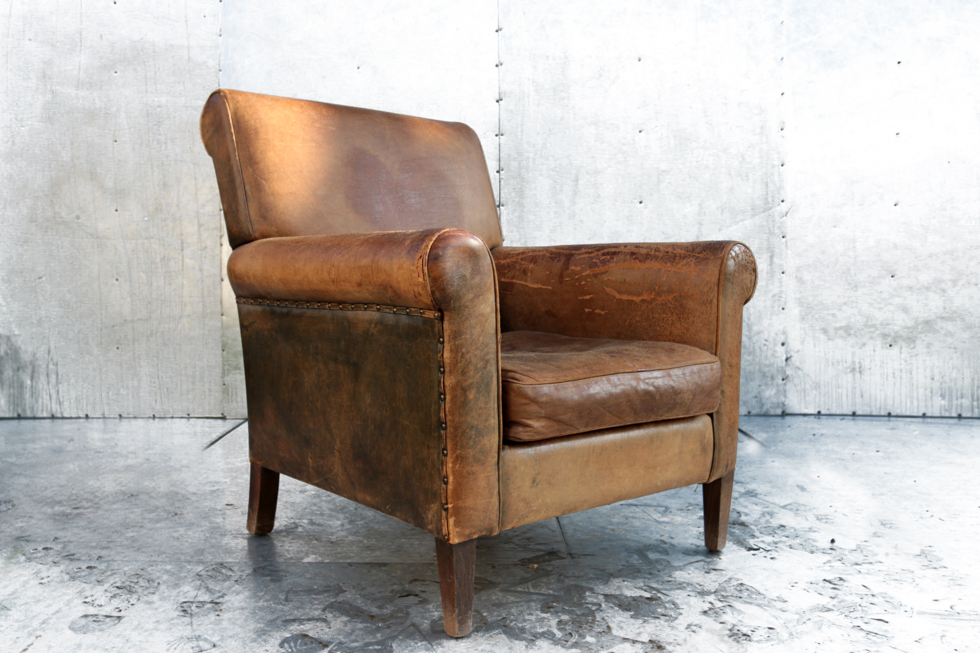 cheap super stoere industrieel vintage fauteuil with barok