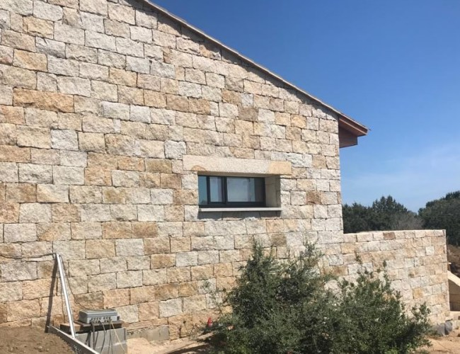 Squared Split Wall Cladding In San Giacomo Yellow Granite
