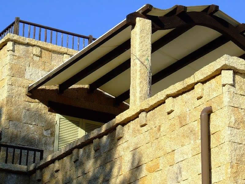 Terrace And Columns In San Giacomo Yellow Granite