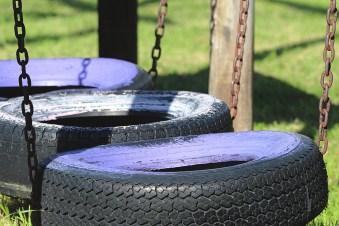 Schaukel aus Reifen