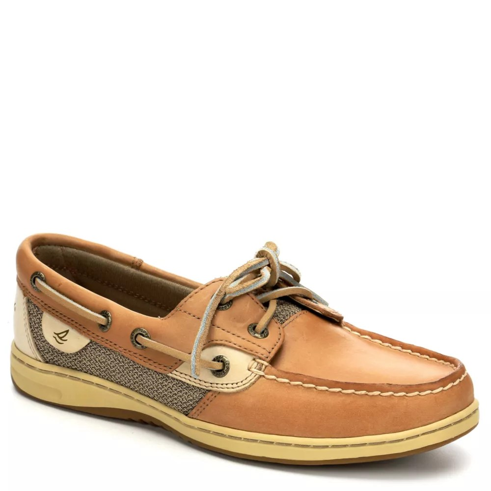 tan sperry womens bluefish boat shoe