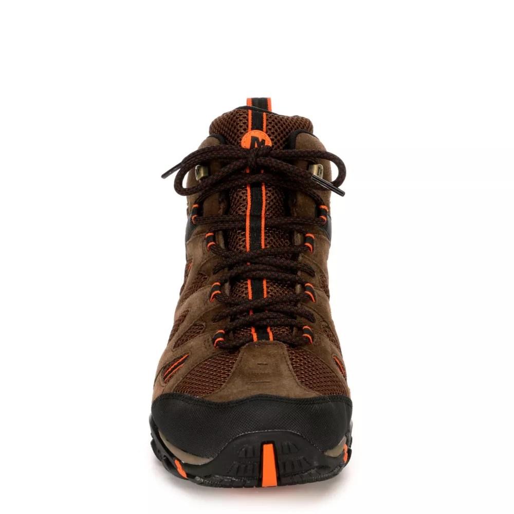 merrell mens deverta mid hiking shoe taupe