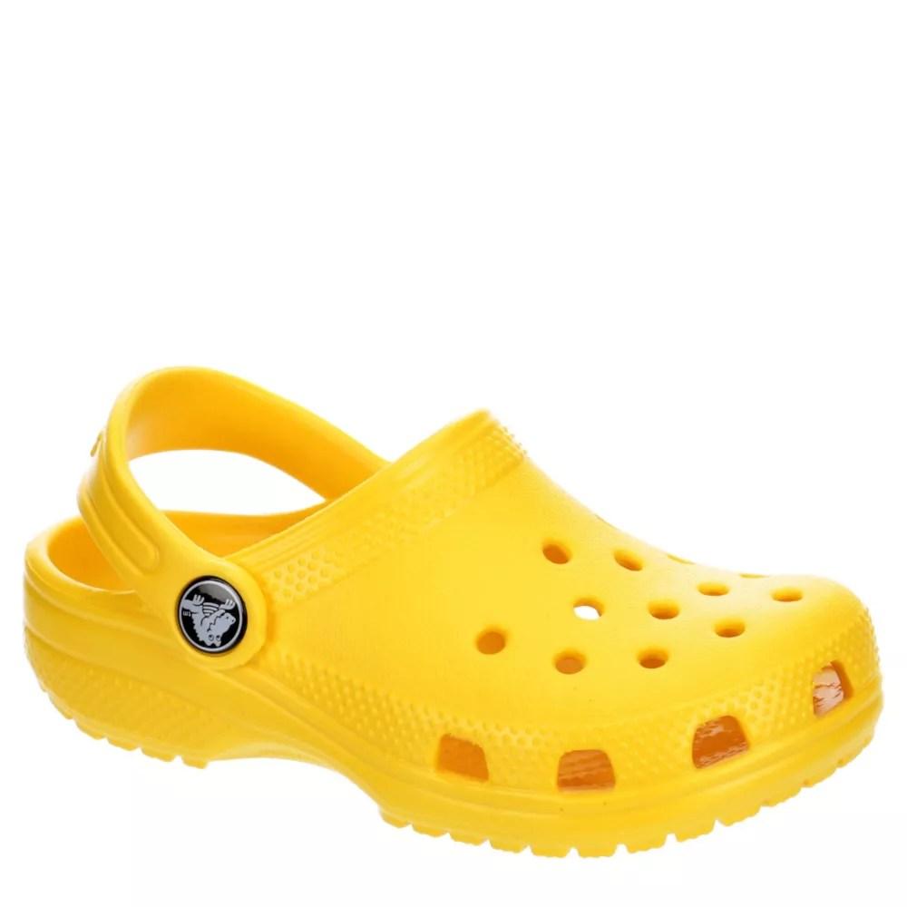 yellow crocs boys classic clog
